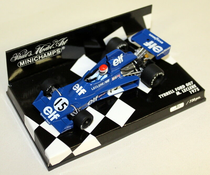 MINICHAMPS 1 43 Scale 400 750115 Tyrrell Ford 007 M Leclere 1975 Diecast voiture F1