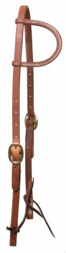 Oiled Harness Leather Sliding One Ear Western Bosal Hanger Bridle USA Made 7404