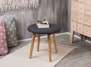 Bloomingville sedia grigio legno naturale sgabello fodera scuro 4