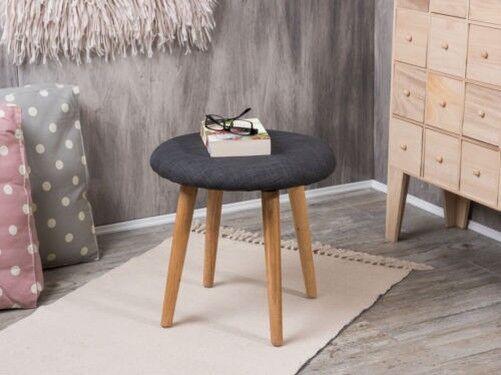 Sgabelli Grigio Scuro : Bloomingville sedia grigio legno naturale sgabello fodera scuro a 4