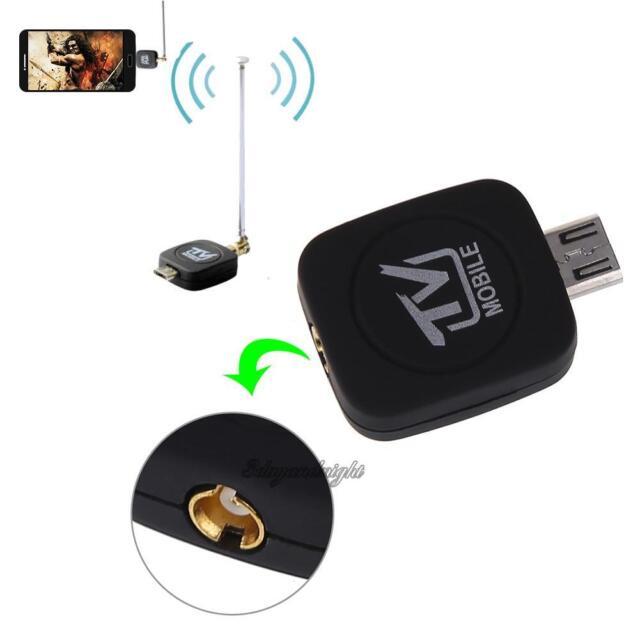 Mini Micro USB DVB-T Digital TV Tuner Receiver+Antenna For Android Phone PC HDTV