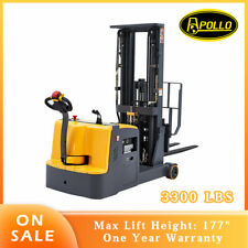 Apollolift 177 Counterbalanced Powered Electric Stacker 3300lbs Cap Fork Lift