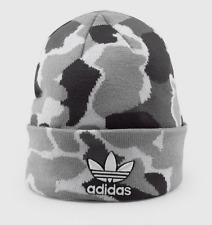 best service 17971 65c2a Adidas Men s Grey White Black Camo Trefoil II Knit Beanie Camouflage