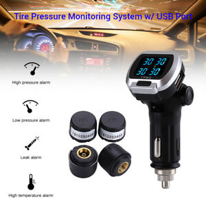 Wireless-Tire-Tyre-Pressure-Monitor-System-TPMS-Cigarette-Lighter-For-Luxes-Ford