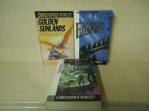 CHRISTOPHER-ROWLEY-3-BOOKS-WAR-FOR-ETERNITY-THE-BLACK-SHIP-GOLDEN-SUNLANDS