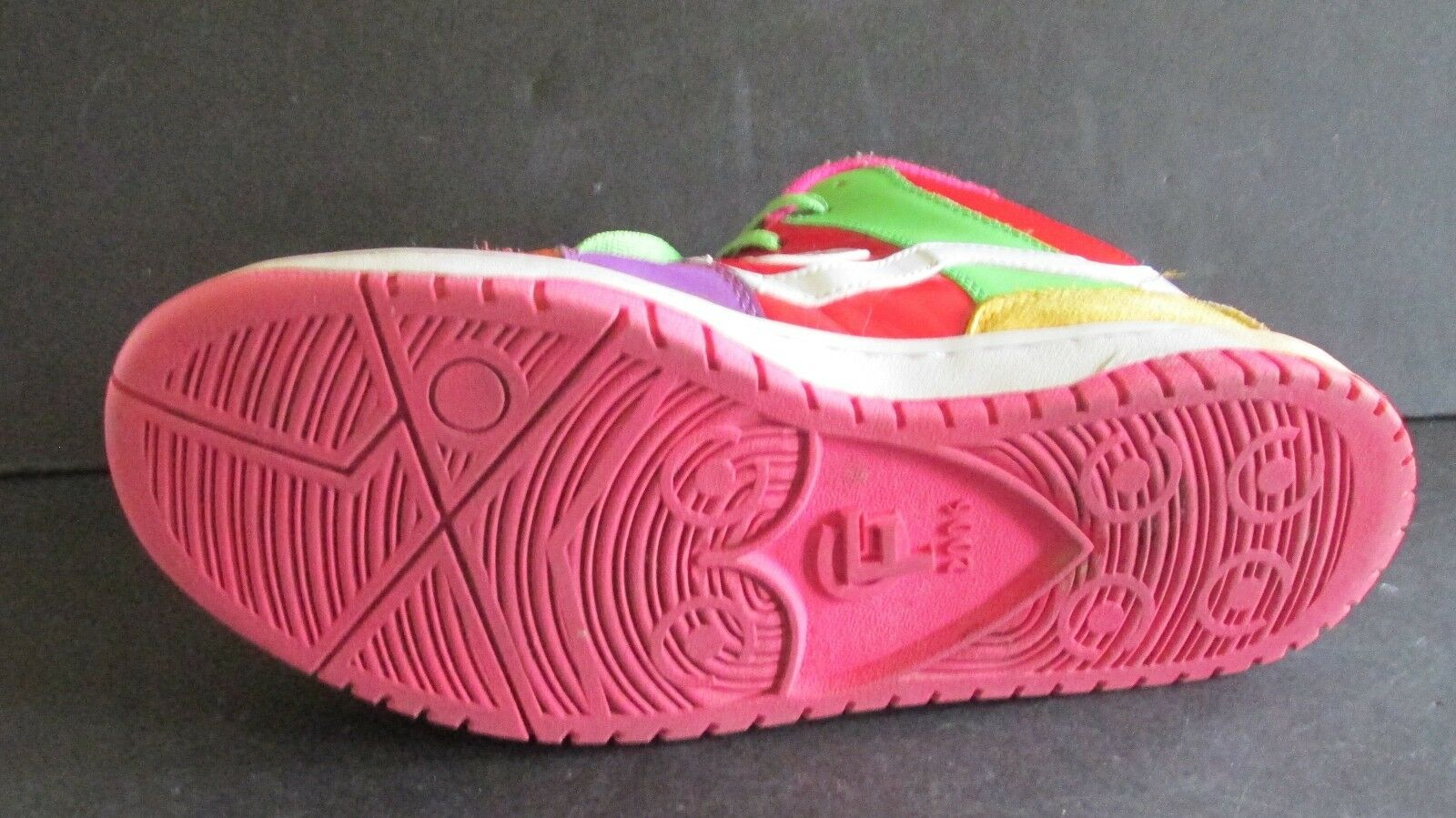 G Force Bang Mid Sz 10 Men's BRIGHT COLORS Patent Leather/Leather  Skate Board