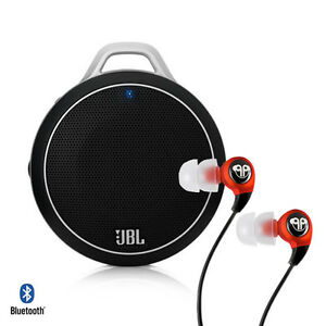 JBL-Micro-Wireless-Bluetooth-Speaker-Black-and-dBLogic-Earbud-Red-Bundle