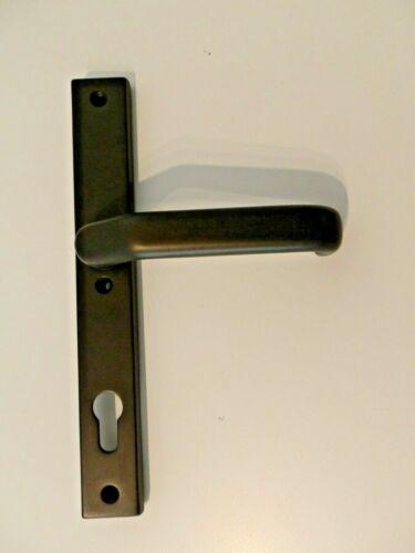 Türdrücker  Langschild PZ 92 mm Entfernung 8 mm Vierkant Bronze Braun