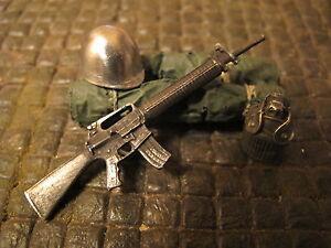 Fusil m16 m16a1 métal US Army RC Tank camion chute de matières diorama decoration Accessoires 1/16  </span>