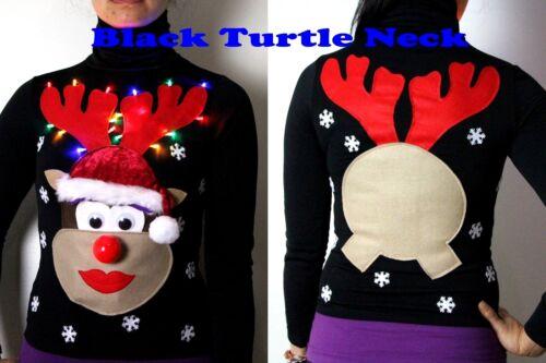 music nose His /& Hers Christmas Xmas Jumper light up men /& women ladies