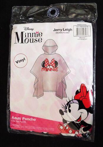 Disney - Minnie Mouse Family - Minnie Ears Bow Adult Hooded Clear Rain Poncho