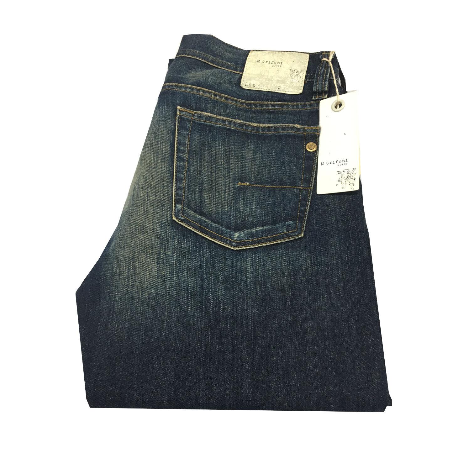 MAURO GRIFONI DENIM jeans uomo modello GORKY 98 % cotone 2 % elastan MADE IN ITA