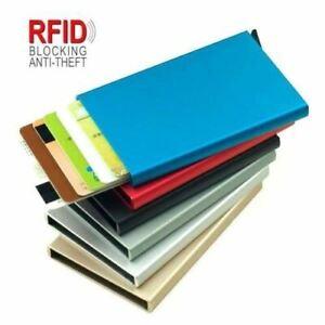 RFID-Porte-cartes-aluminum-rigide-homme-femme-Protection-cartes-sans-contact