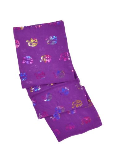 Women Glitter Rainbow Thai Elephant Scarf Wrap Perfect Gift for Her in 6 Colours