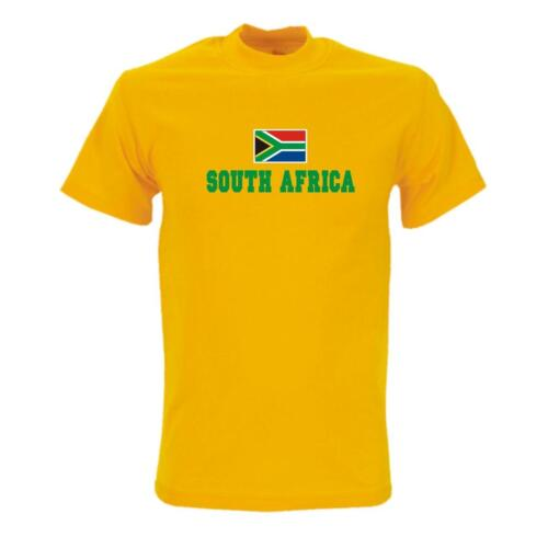 T-Shirt SÜDAFRIKA Flag Shirt Herren Fanshirt South Africa WMS02-61a