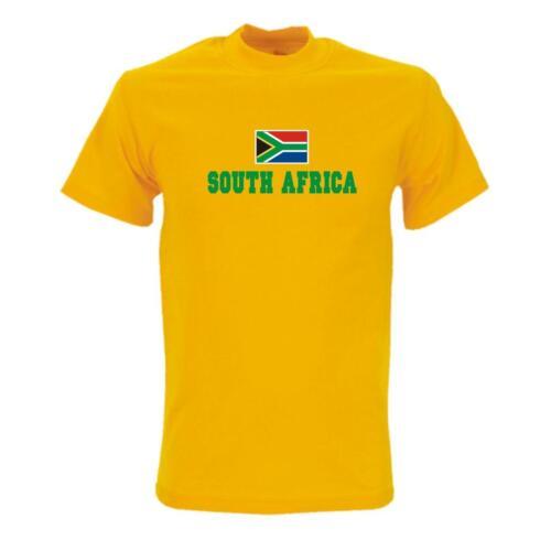 T-Shirt SÜDAFRIKA Flag Shirt Herren Fanshirt South Africa WMS02-61a
