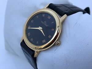 Cenere Women Watch Black Genuine Leather Band Gold Tone Case Japan Movement