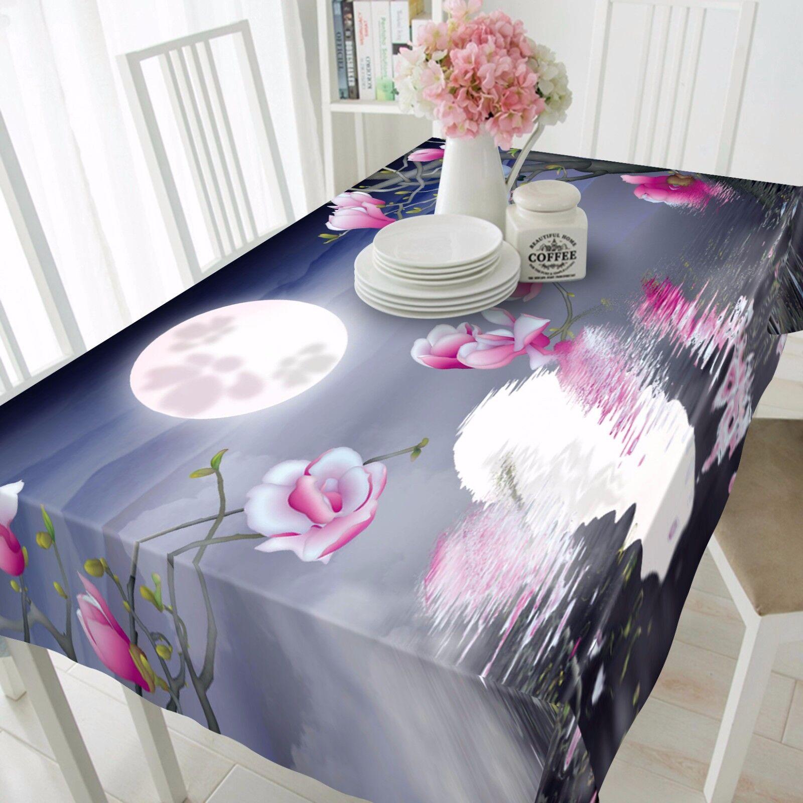 3D Lune sombre 84 Nappe Table Cover Cloth Fête D'Anniversaire événement AJ papier peint UK