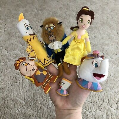 NWT Disney Parks Beauty and the Beast set of 3 Tsum Tsums Cogsworth Lumiere Chip