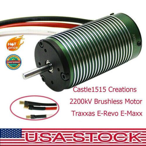 Castle1515 Creations 2200kV Brushless Motor Traxxas E-Revo E-Maxx For RC Car F1