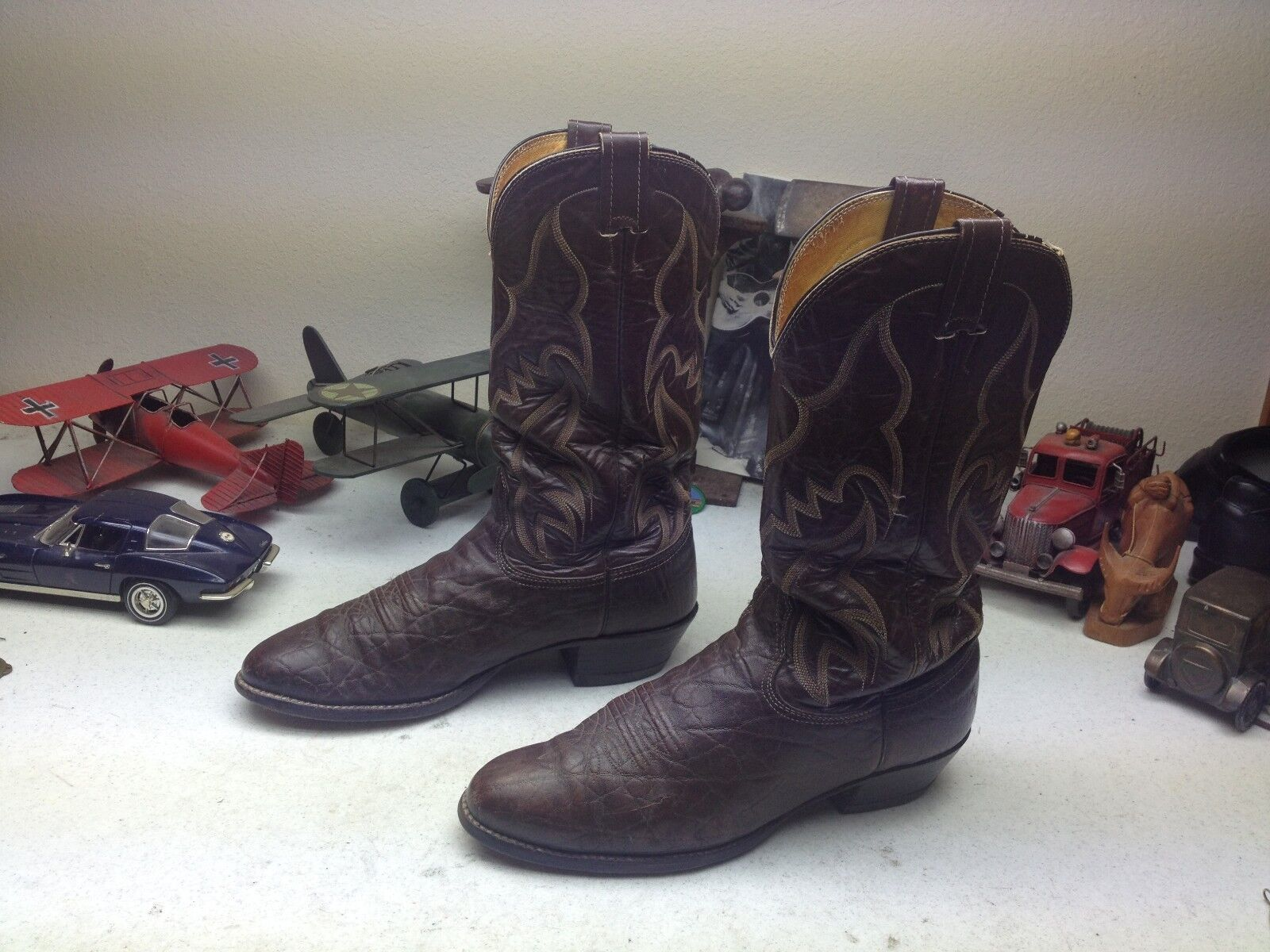 NOCONA CHOCOLATE BROWN DISTRESSED 11 LEATHER ENGINEER TRAIL BOSS RANCH BOOTS 11 DISTRESSED D eaeca8