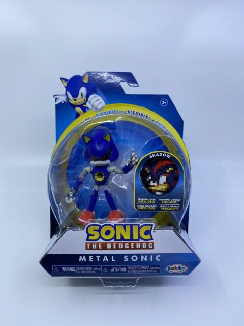 Sonic The Hedgehog Shadow Disk Metal Sonic Jakks Figure Bendable Flexible New