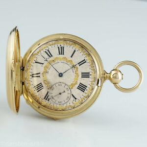 Charles-Theodore-Vaucher-a-Fleurier-Wippen-034-Chronometre-034-Schwere-Savonnette-1850