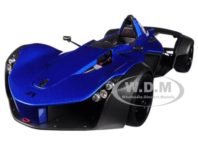 BAC MONO METALLISK blå 1  18 modellllerL bil AV bilkonst 18115