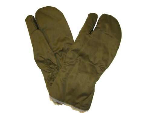Unused Genuine CZECH Army Issue M 55 Combat Winter Trigger Finger Mitts Olive