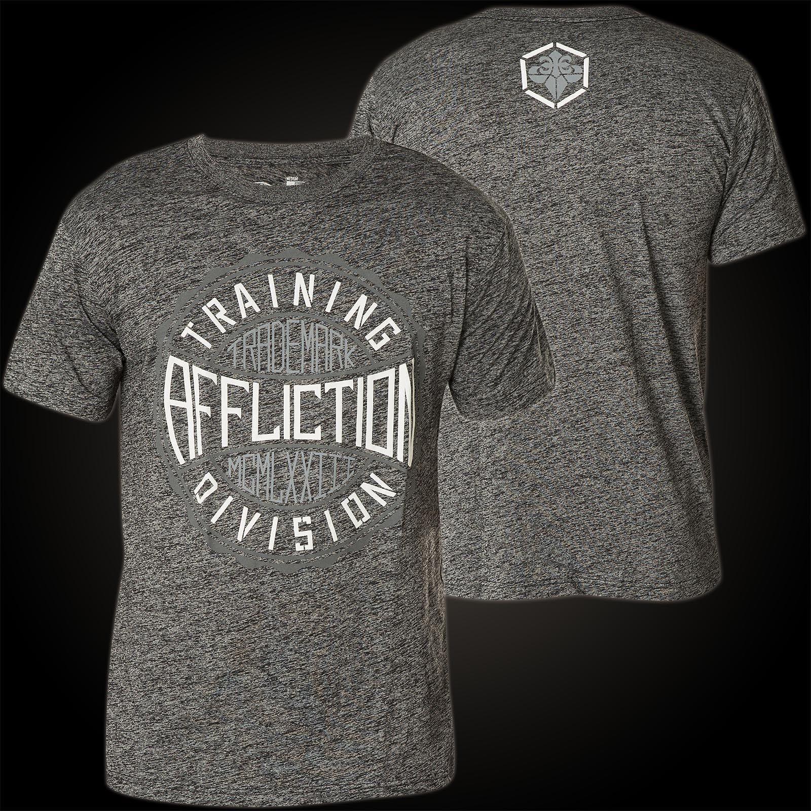 Affliction T-shirt Trademark Gear Grigio T-shirts Uomo