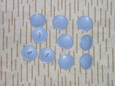 20 mm 10 x DDR NVA Uniformknopf Felddienst grau