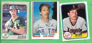Joe Rudi LOT 1981 Fleer #272 1982 Topps #388 1983 Fleer #532 - Three for One!!