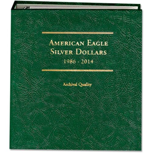 Littleton Coin Album LCA13 American Silver Eagle 1986-2014W ARCHIVAL QUALITY