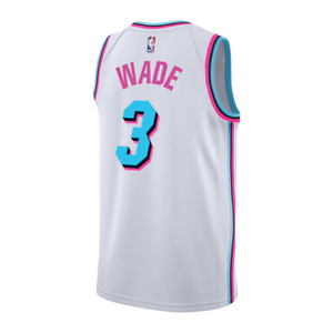 Vest Jersey Collectible Nba Basketball Miami Heat D Wade 3 City Edition White Ebay