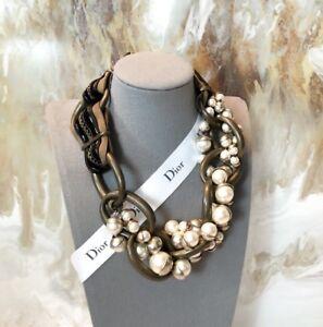 a224d98fafbd Raro Dior Bronce Collar De Perlas mis en Dior tribal-Edición ...