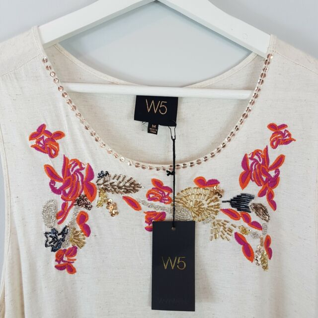 [ ANTHROPOLOGIE ] W5 Womens Embroidered Top NEW | Size M or AU 12 / US 8
