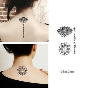 Removable-Stickers-Body-Art-Temporary-Arm-Tattoos-Waterproof-Lotus-Pray