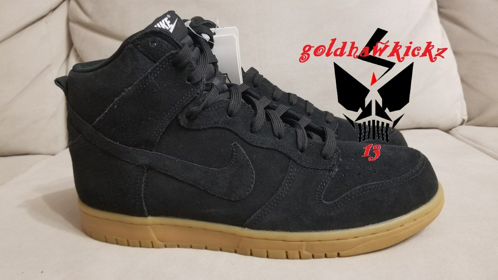 nike dunk high black unreleased gum 904233 003 suede unreleased black sample 1cbddc