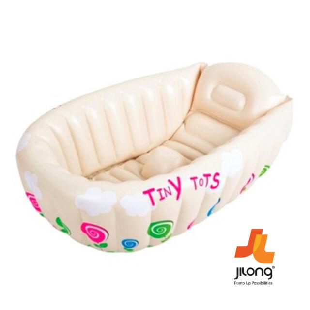 JILONG BABY KIDS BATH TUB INFLATABLE WASHING SPLASHING TINY TOTS HEAT SENSOR TUB