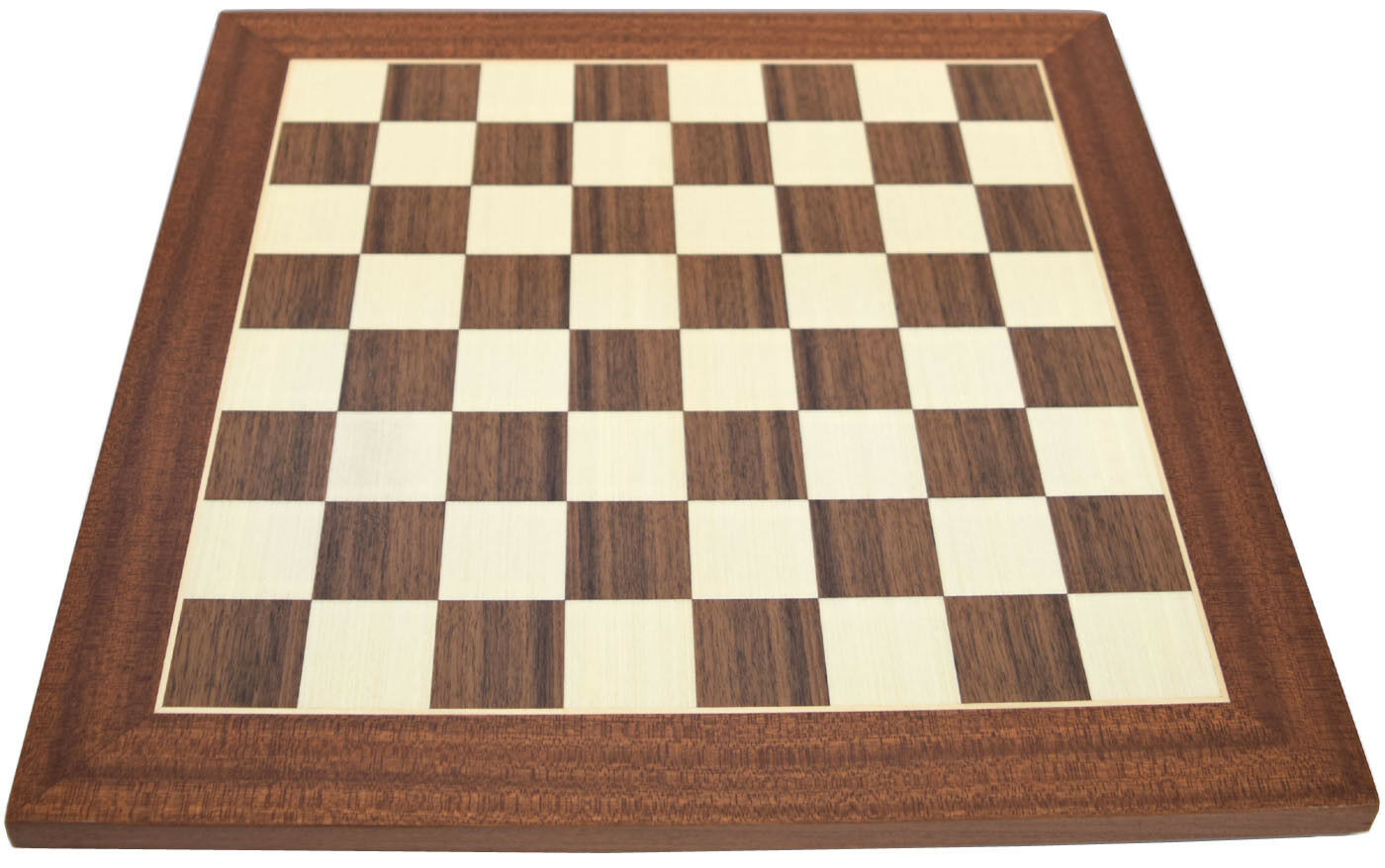 Sale - Walnut, Sycamore and Mahogany Chess Board 1.5 Inch Squares (15040)