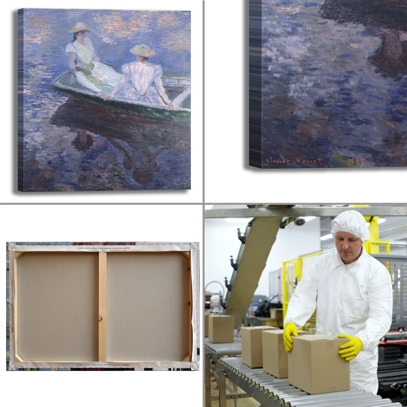 Monet sulla quadro barca design quadro sulla stampa tela dipinto telaio arRouge o casa bbac6b
