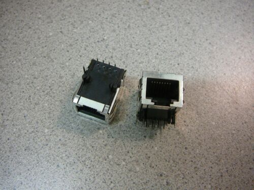 **NEW**  2//PKG STEWART Modular Jack Connector R//A 1-Port 8p8c RJ45, Ethernet