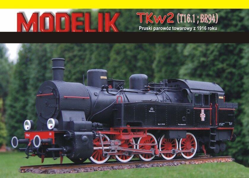Prussian T16 (TKw2, BR94) Class locomotive 1 25 paper model kit 51cm long
