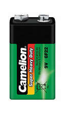 Lot 12 piles Camelion super heavy green cello 9V 6LF22 6LR41 6F22 (450mah)