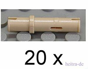 LEGO-Technik-20-x-Technik-Pin-lang-beige-Tan-32556-NEUWARE