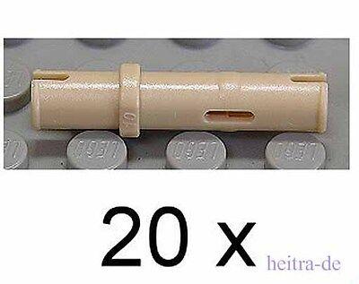 LEGO Technik - 20 x Technik - Pin lang sandfarben / Tan  / 32556 NEUWARE