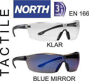 Schutzbrille-TACTILE-T2400-North-als-Sonnenbrille-Blue-Mirror-u-KLAR