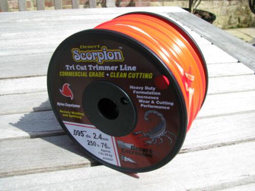 Pro rotofil ligne 2.4 mm x 76 m desert Scorpion Meilleure Qualité /& Valeur s/'Adapte Stihl