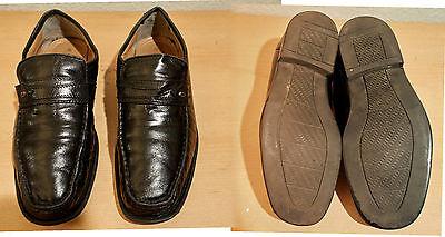 Halbschuhe,Mokassins,Canda,Gr. 42,schwarz,Kunstleder,Gummisohle,2 cm Absatz