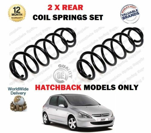 Para Peugeot 307 1.4 1.6 2.0 /> NUEVO 2 X Trasero COIL Springs Set HDI Hatchback 2000
